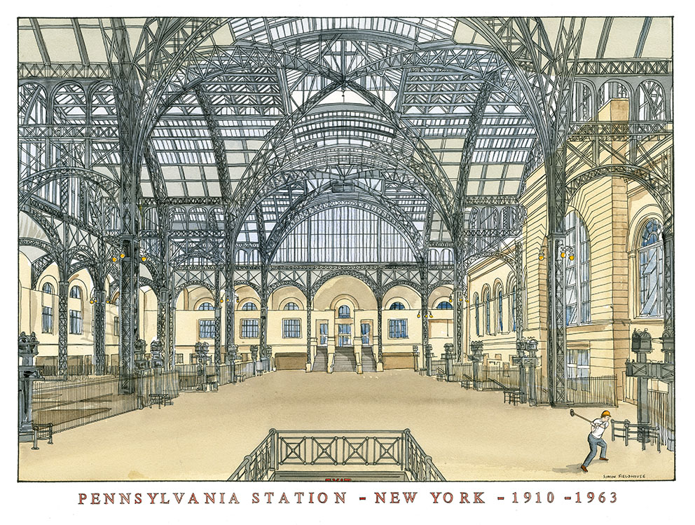 Pennsylvania Station New York Simon Fieldhouse New York Architecture
