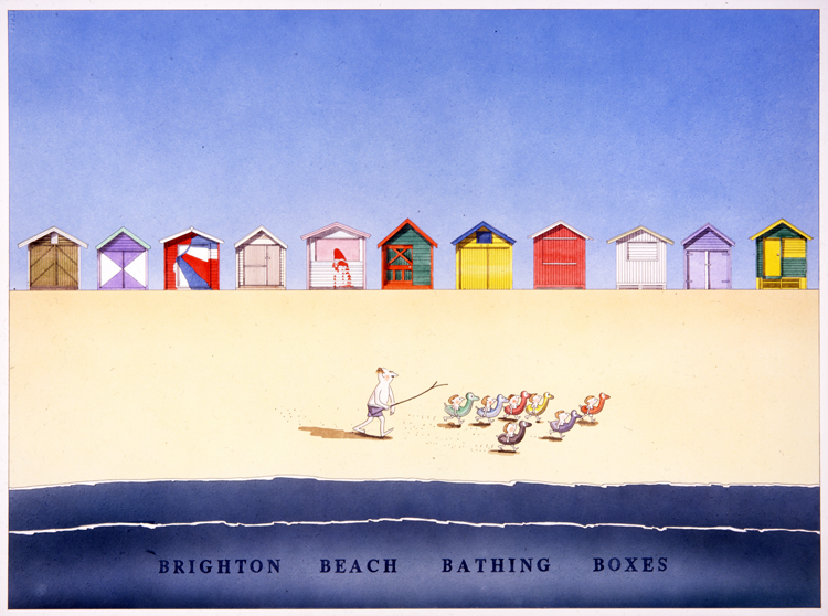 Brighton Beach Bathing Boxes - Melbourne