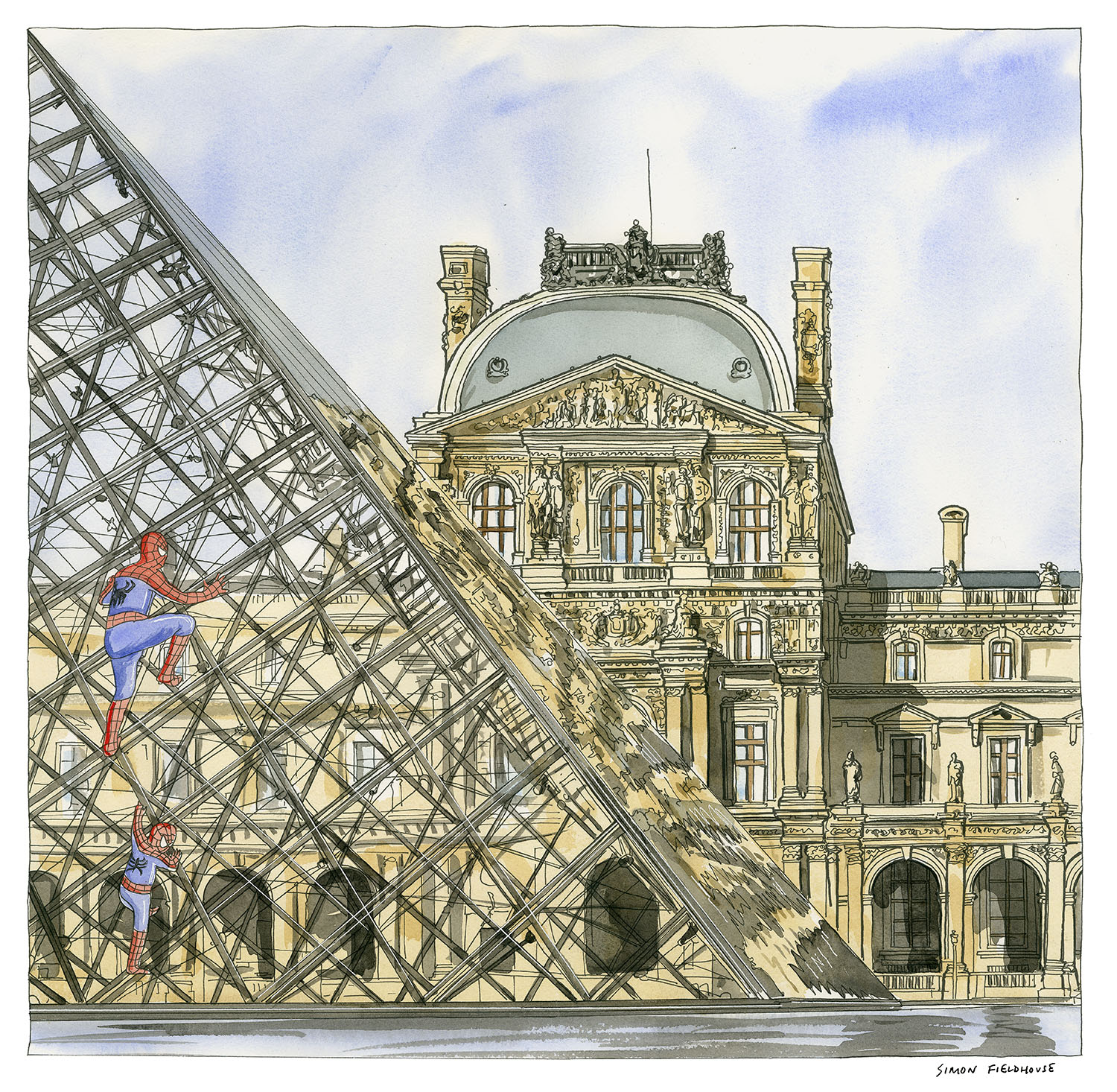 Louvre Paris Simon Fieldhouse Louvre   Paris   Climbing the Art world.